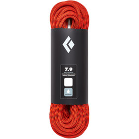 Black Diamond 7.9 Dry Cuerda 10mm 30m, orange